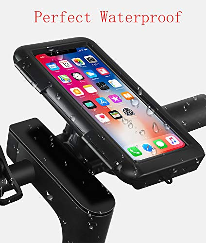 YouthRM Waterproof Bicycle Phone Holder, Silica Gel Smartphone Holder with Touch Screen, 360° Rotation, Compatible with Bicycle Motorcycle,Handlebar
