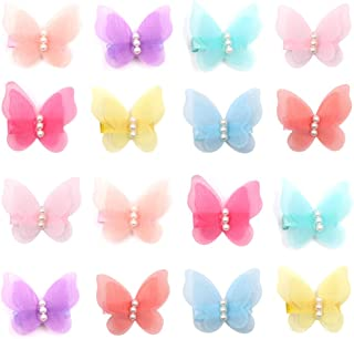 Zapire 16 Packs Baby Girl Hair Clips Chiffon Non-slip Butterfly Clips Barrettes for Girls Baby Kids Children Toddlers Hair...