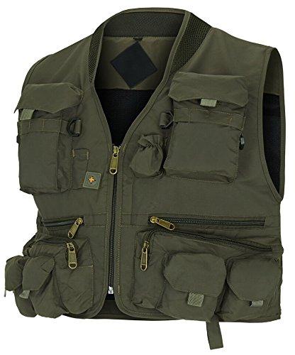 noorsk Jagd- und Anglerweste mit vielen praktischen Taschen, superleicht Grün XXL