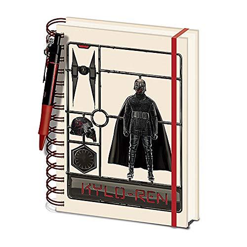 Star Wars Kylo Ren The Rise of Skywalker - Juego de bolígrafos (A5, tapa dura)