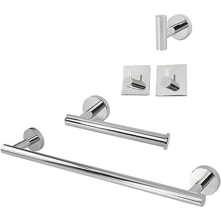 Polished Chrome Brass Bathroom Accessories Set Bath Hardware Towel Bar mset023