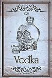 Generisch Retro Vodka 1925 (botella de calavera), cartel de metal, 20 x 30 cm