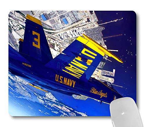 Wknoon U.S.Navy Cool Blue Angels Plane Mouse Pad, American Navy Patriotic Mouse Pads