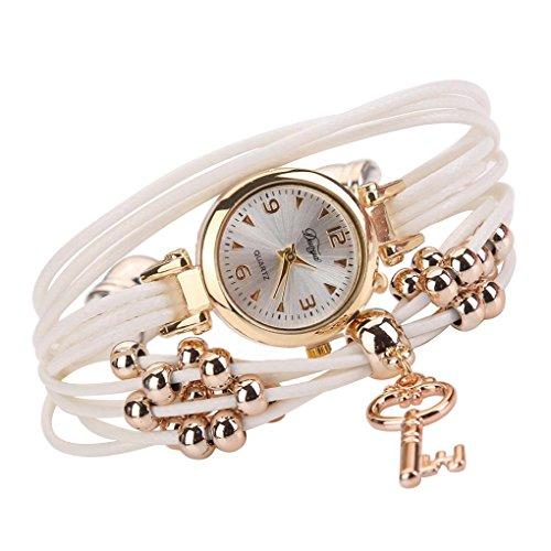 Pulsera del Reloj, K-youth® Retro Estilo Romano Clave Colgante Cuarzo Reloj de...
