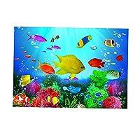 水槽背景 バックスクリーン ステッカー 水族館 飾り 厚い 防水 全6色 - XL