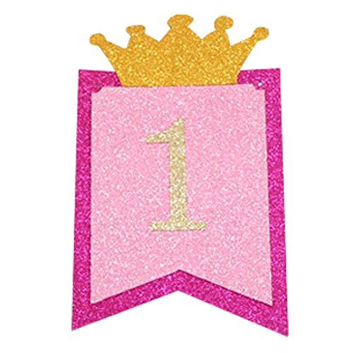 Funpa 1e verjaardag banner decoratie hangers papier kinderstoel verjaardag accessoire baby douche Eén maat yellow
