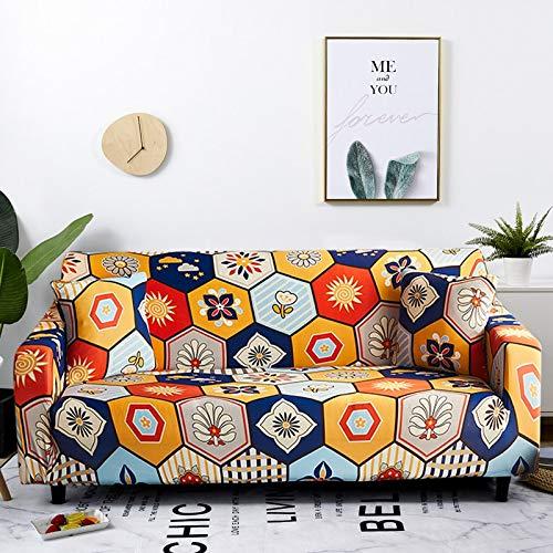 WXQY Fundas de sofá elásticas elásticas para Sala de Estar Toalla de sofá de Estilo Bohemio Totalmente Envuelto Antipolvo Toalla de sofá Armchair Funda de sofá A13 1 Plaza