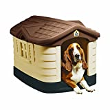 Pet Zone Cozy Cottage Weather-Resistant Dog House. (Durable, Double Walled Plastic Dog House) [Outdoor Dog House, Indoor Dog House, Made in USA]