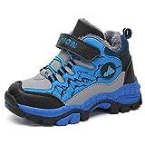 Niño Niña Zapatos de Senderismo Invierno Zapatos de Nieve Botas de Trekking Nieve Forrado de Piel...