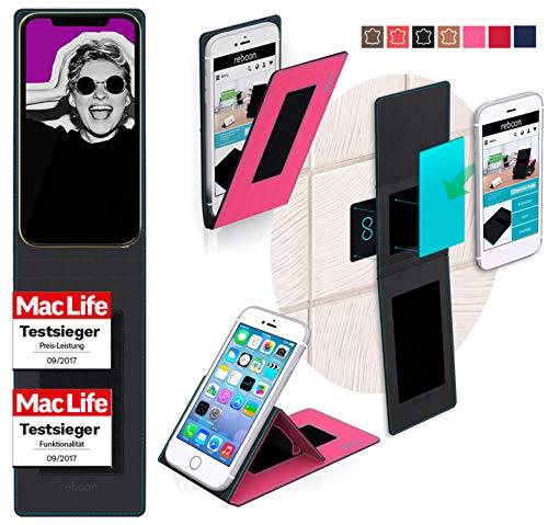 reboon Hülle für Allview Soul X5 Mini Tasche Cover Hülle Bumper   Pink   Testsieger
