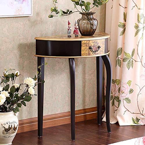 smzzz Heimwerker Möbel Design Erker Nordic Style Couchtisch Lässiger Ecktisch rundes Wohnzimmer High-End-Telefontisch Kleiner runder