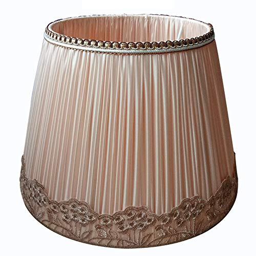 SACYSAC Pantalla de lámpara, lámpara de Mesa Pantalla de la Tela, Tela Hechos a Mano Lámpara de pie Pantalla de lámpara, E27,30cm