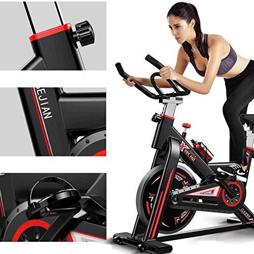Lloow Bicicleta de Ciclismo Interior, Bicicleta de Hilado de hogar Ultra Tranquilo 250 kg de Carga de Carga de Bicicletas de Ejercicio Ajustado Equipo Deportivo Pedal Bicicleta