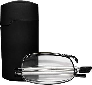 59ed0a81e0 uu19ee Gafas de Lectura Plegables Hombres Mujeres Mini diseño Gafas  pequeñas Marco Gafas de Metal Negro