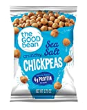 The Good Bean Roasted Chickpea Snacks, Sea Salt, Gluten Free, 0.75 Ounce, 50 count