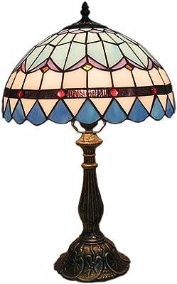 WYH Table Lamp Lampe de Table Haute Couleur Verre Vert sépia Orange Jaune Lampe de Chevet Lampe de décoration Style Salle de séjour Lampe a Poser