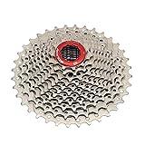 Bicicleta de carretera 11 velocidades Freewheel Relación de engranajes 11-36T Cassettes de bicicleta piñón para sram shimano accesorios de bicicleta (11 velocidad 11-36T rojo y plata)