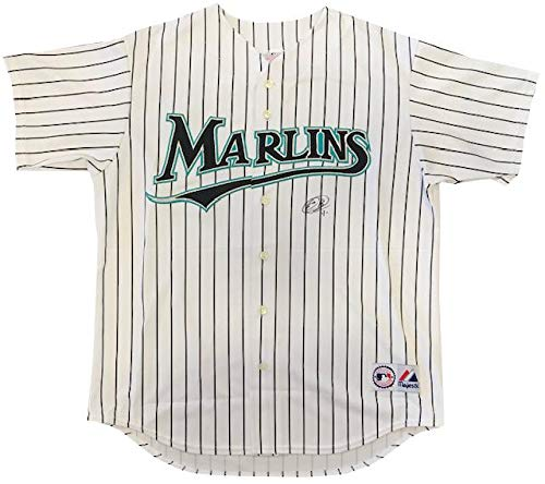 Emilio Bonifacio Autographed Authentic Florida Marlins White Jersey - Autographed MLB Jerseys
