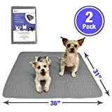 Petzy Washable Pee Pads for Dogs (XL 2 Pack) | Premium Waterproof Dog Training Potty Pads | Reusable Puppy Pads | Super Absorbent, Easy to Wash, Anti-Slip, Perfect Size (31' x 36')