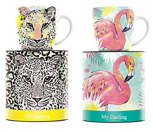 Ritzenhoff Kaffeebecher My Darling 2 er Set 1510192 1510190 Petra Mohr Leopard und Nils Kunath Flamigo Kollektion Herbst 2018