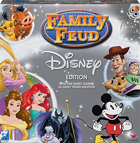 Family Feud Disney Edition Game for Adults, Families and Kids Ages 6 and up, by Spin Master