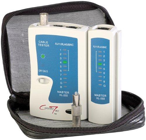 7links Netzwerkkabel Tester: 3in1-Kabeltester für RJ-45, RJ-11 und BNC (LAN Kabel Tester)