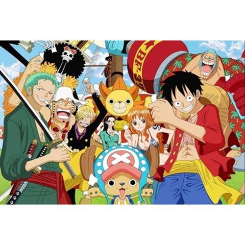 Smklcm Cartoon Department 300/500/1000 Pieces One Piece legpuzzels, Straw Hat Pirate groep mensen puzzel, volwassenen houten puzzel games kind Puzzel (Color : D, Size : 500PC)