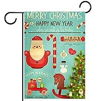 ガーデンヤードフラッグ両面 /28x40in/ ポリエステルウェルカムハウス旗バナー,クリスマスのグリーティングカード
