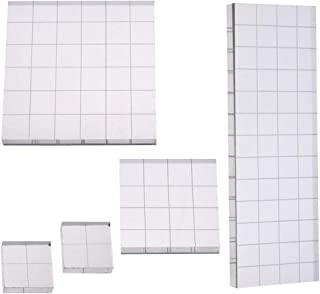 5 Pcs Acrylic Blocks with Grid Lines, Cooyeah Acrylic Clear Stamping Blocks Set for Scrapbooking Crafts Making, 4 Sizes