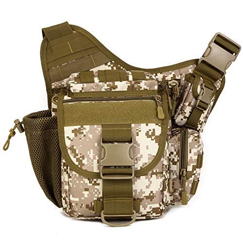 HUKJ Super Satteltasche Single Reverse Camera Package Outdoor Cather Outdoor Catheras Tasche, EIN Einzelner Schulter-Rucksack-Messenger Bag Big Satteltasche-Paket Mehrzweck-Tasche,Brown Camouflage