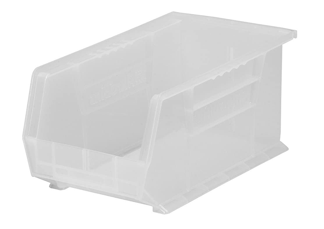 Akro-Mils 30239 Plastic Storage Stacking AkroBin, 11-Inch by 8-Inch by 7-Inch, Clear, Case of 6