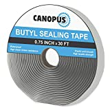CANOPUS Butyl Seal Tape, Gray, 0.75in x 30ft, Heavy Duty, Waterproof Sealant Putty Tape, Rubber Tape to Seal RV, Boat, Home Pipes and Car Windows Leaks