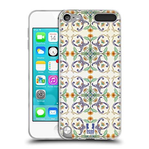 Head Case Designs Reben Und Sonnenblumen Majolika Drucken Soft Gel Huelle kompatibel mit Apple iPod Touch 5G 5th Gen