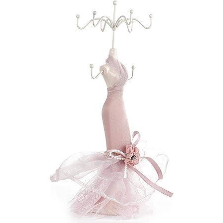 Mannequin Jewelry Stand Lady Dress Decorative for Neckalce Storage Organizer