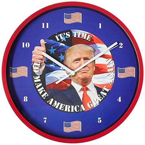 As Seen On TV E-0722 President Trump Talking Clock, 10 in. Diameter, Blue