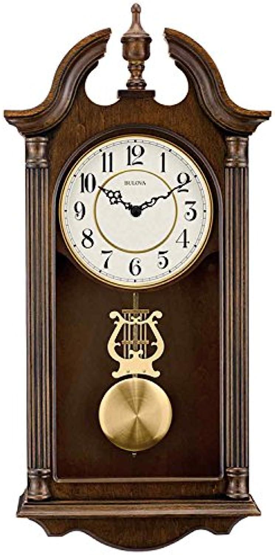 Bulova C1517 Saybrook Wall Clock, Brown Cherry