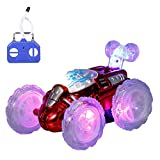 Goolsky Coche teledirigido con luces LED parpadeantes 360 ° para niños, niños y niñas
