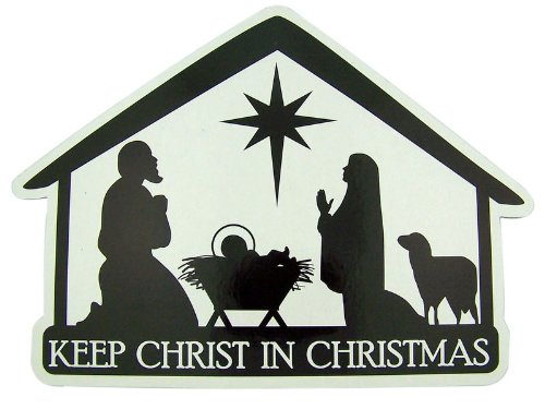 Keep Christ in Christmas Nativity Stable 8-inch Auto Magnet Decoration