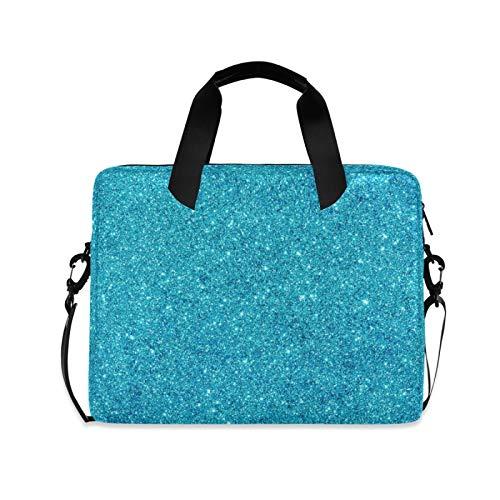 Laptp Case Glitter Blue Galaxy Star Laptop Bag 15.6 inch 360° Protective Computer Bag with Shoulder Strap for Men Women