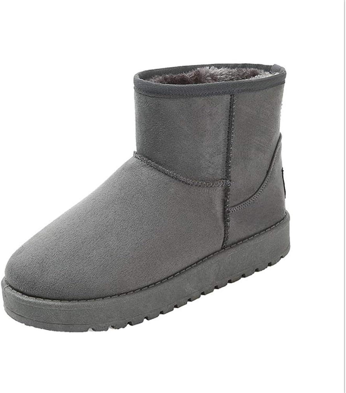 Excellent.c Women's Cotton shoes Snow Boots Short Boots Warm Boots Flat Boots
