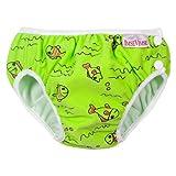 ImseVimse, Badehose für Babys, Schwimmwindel S -6-8kg Grüne Fische - 5