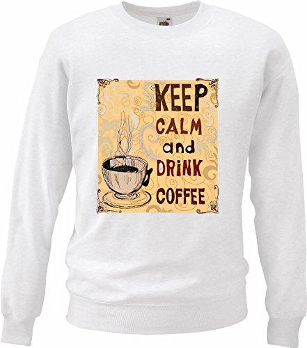 Sweatshirts Keep Calm en dranken Koffie Cappuccino Latte del Café Express America melk Chocolate Koffiekopje calorieën dieet Figura prestatie IMC