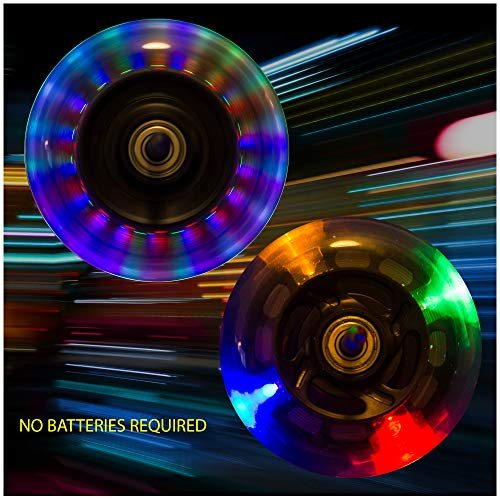 Light Up Scooter Replacement Wheels with ABEC 7 Bearings for Razor...