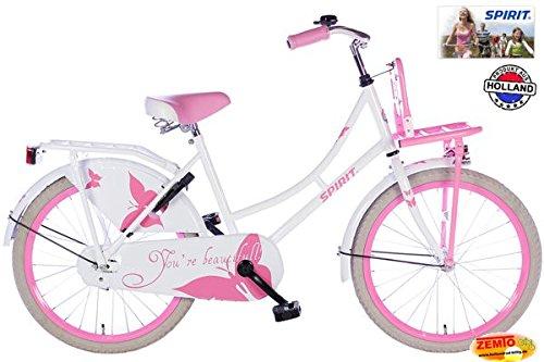 Spirit Mädchenrad Omafiets Weiß-Rosa 20 Zoll