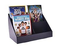 CD/DVD/グリーティングカード用スタンド - ストア4ポケットボール紙ディスプレイスタンド - ブラック(10個入り)