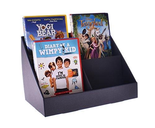 Stand-Store, Verkaufsständer aus Pappe mit 4 Fächern für CD's/DVD's/Grußkarten 1 Stück 148mm pockets - CD Schwarz