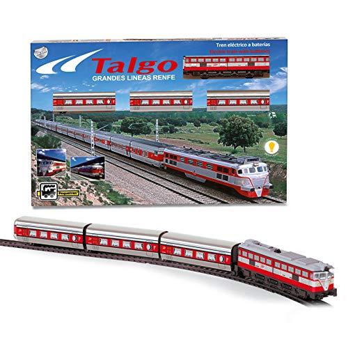 PEQUETREN- Tren Talgo articulado con desvíos, Color Rojo (