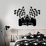 BFMBCH Autorennen Formel 1 Autorennen Fahnen Aufkleber Vinyl Wandtattoo Dekoration Zubehör Für Spielzimmer Mode A3 42x55 cm