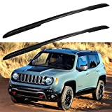 ROADFAR Black Roof Rack Side Rails Aluminum Top Side Rail Carries Luggage Carrier Fit for 2015-2020 for Jeep Renegade Sport Utility Baggage Roof Side Rail
