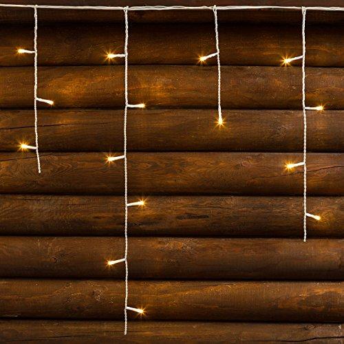 XMASKING Stalattite 30 x h 0,6 m, 720 LED Bianco Caldo, Cavo Bianco